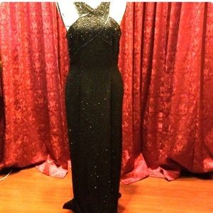 Back sequence evening gown